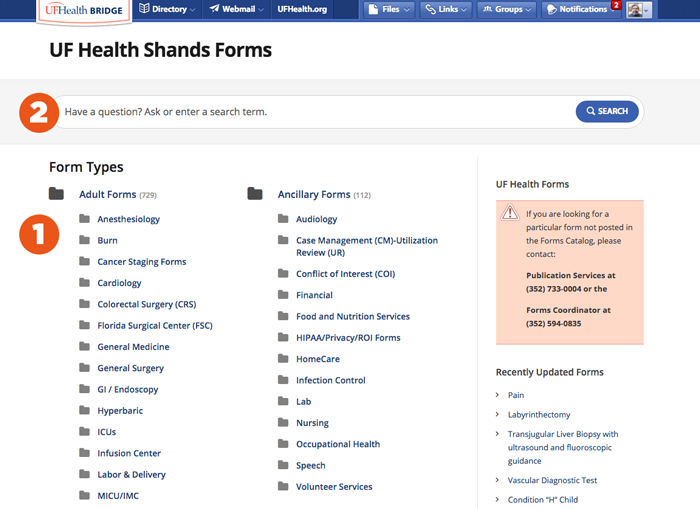 Forms Home Page