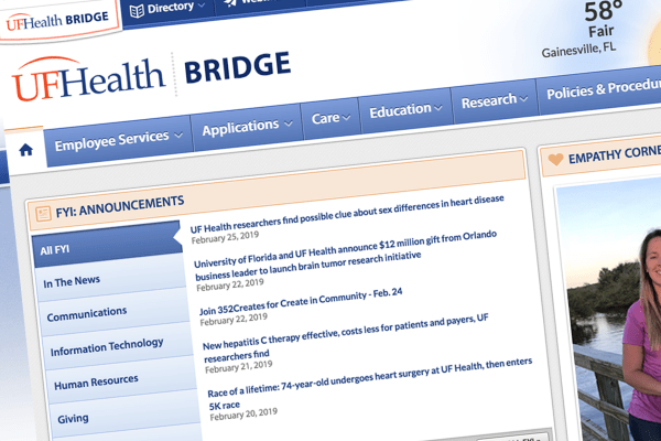 UF Health Bridge screenshot