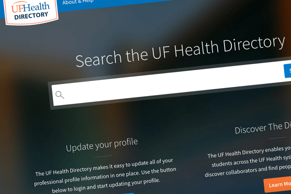 UF Health Directory screenshot