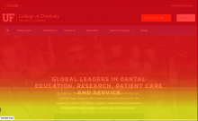 Scrollmap overlay for UF Health dentistry homepage